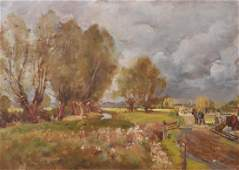 19th - 20th Century English School. A River Landscape,