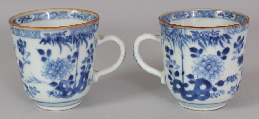 A PAIR OF EARLY 18TH CENTURY CHINESE BLUE & WHITE - 3