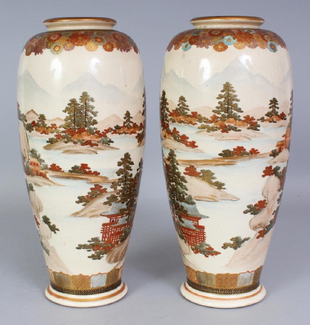 A PAIR OF EARLY 20TH CENTURY SIGNED JAPANESE SATSUMA - 3