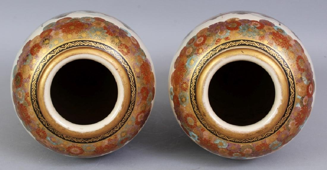 A PAIR OF EARLY 20TH CENTURY SIGNED JAPANESE SATSUMA - 7