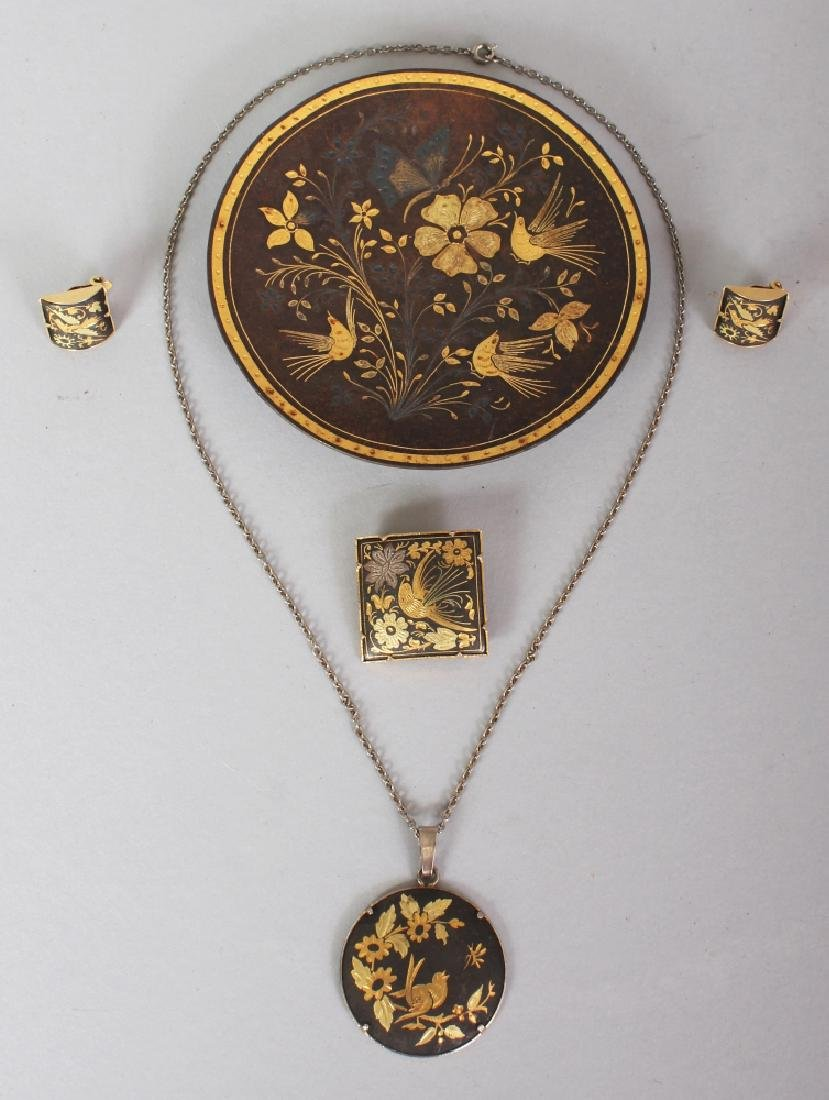 A GROUP OF EARLY 20TH CENTURY GILDED METAL KOMAI STYLE