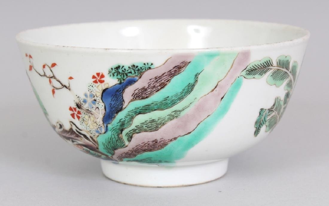 A SMALL CHINESE FAMILLE VERTE PORCELAIN BOWL, decorated - 4