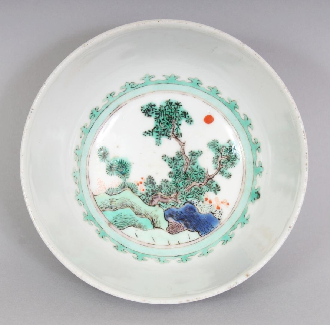 A SMALL CHINESE FAMILLE VERTE PORCELAIN BOWL, decorated - 6