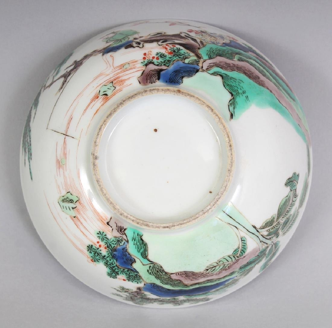A SMALL CHINESE FAMILLE VERTE PORCELAIN BOWL, decorated - 8