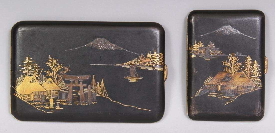 TWO EARLY 20TH CENTURY JAPANESE KOMAI STYLE GILT &