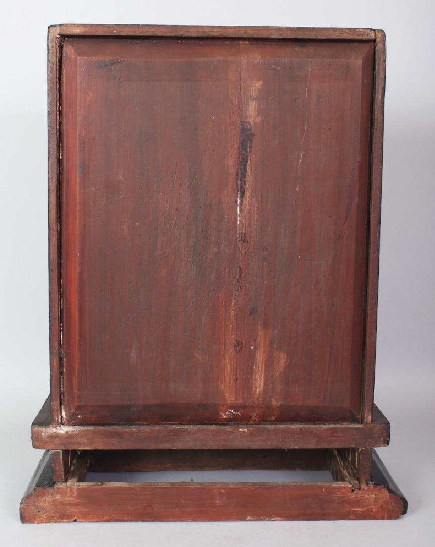 A 19TH/20TH CENTURY CHINESE GILT WOOD CABINET, the two - 3