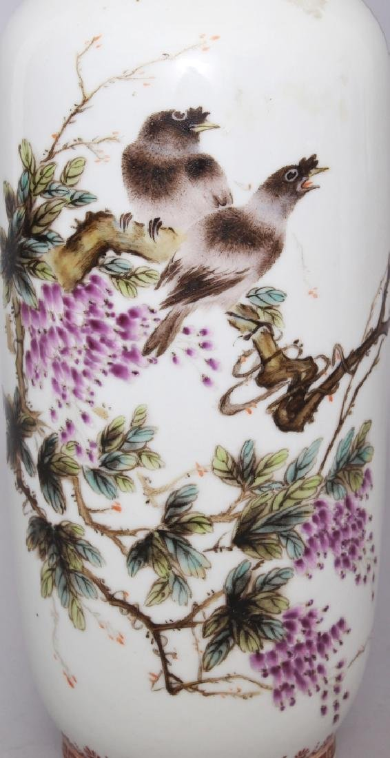 A CHINESE REPUBLIC STYLE FAMILLE ROSE PORCELAIN VASE, - 5