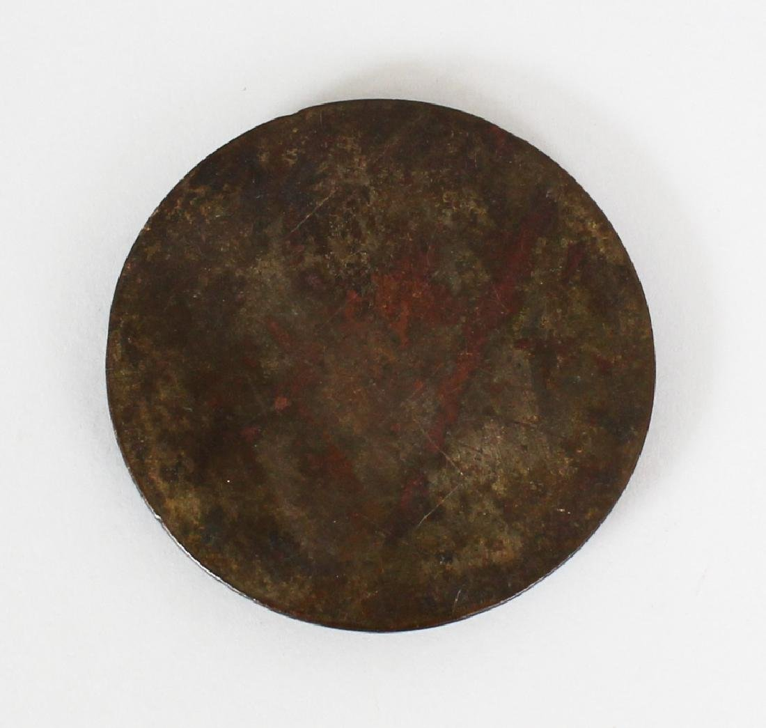 A SMALL CHINESE BRONZE MIRROR, possibly early, together - 4