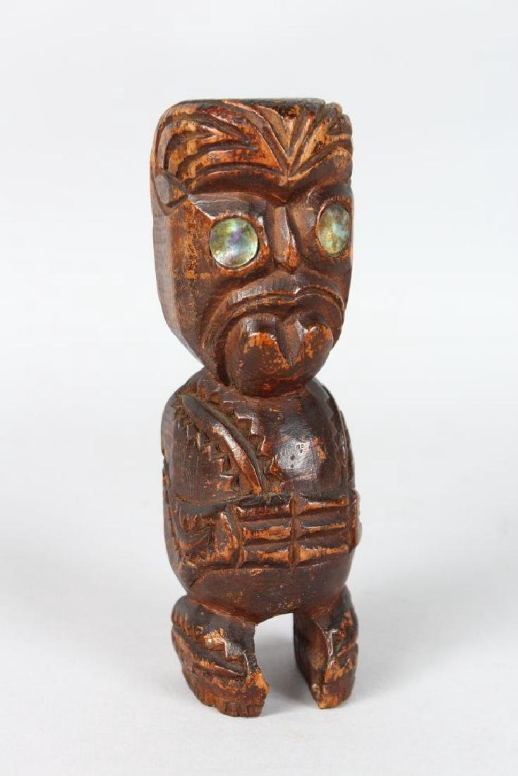 A MAORI, CARVED GABLE FIGURE, NEW ZEALAND  Tekoteko.