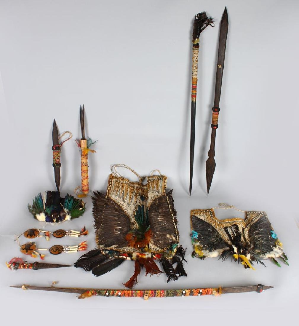 A FULL SOUTH AMERICAN (AMAZON) CEREMONIAL COSTUME,