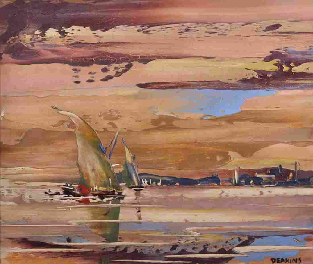 George Richard Deakins (1911-1982) British. Shipping in