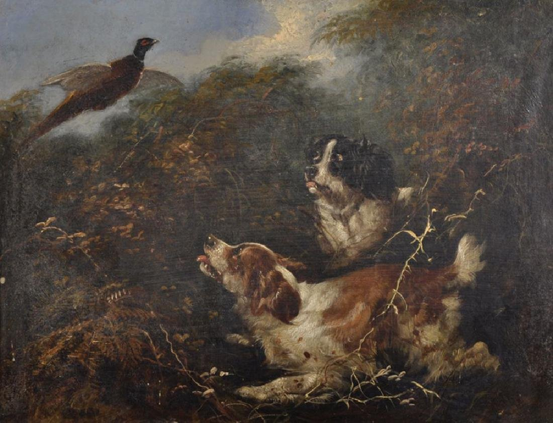 George Armfield (1808-1893) British. Spaniels in the