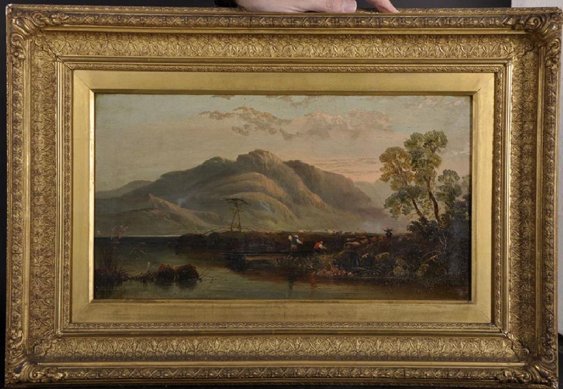 19th Century English School. A Mountainous River - 2