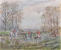 Ernest William Aldworth 18891977 British A Hunting