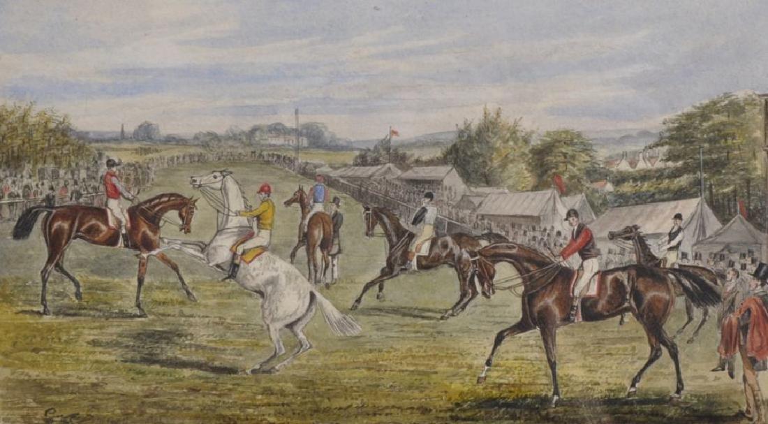 Henry Alken (1810-1894) British. A Racing Scene, - 2