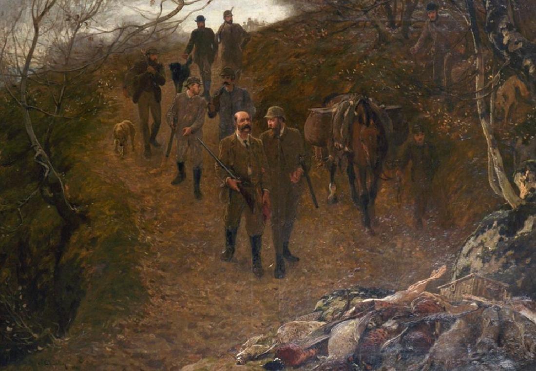 "John Charlton (1849-1917) British. ""Return of the"