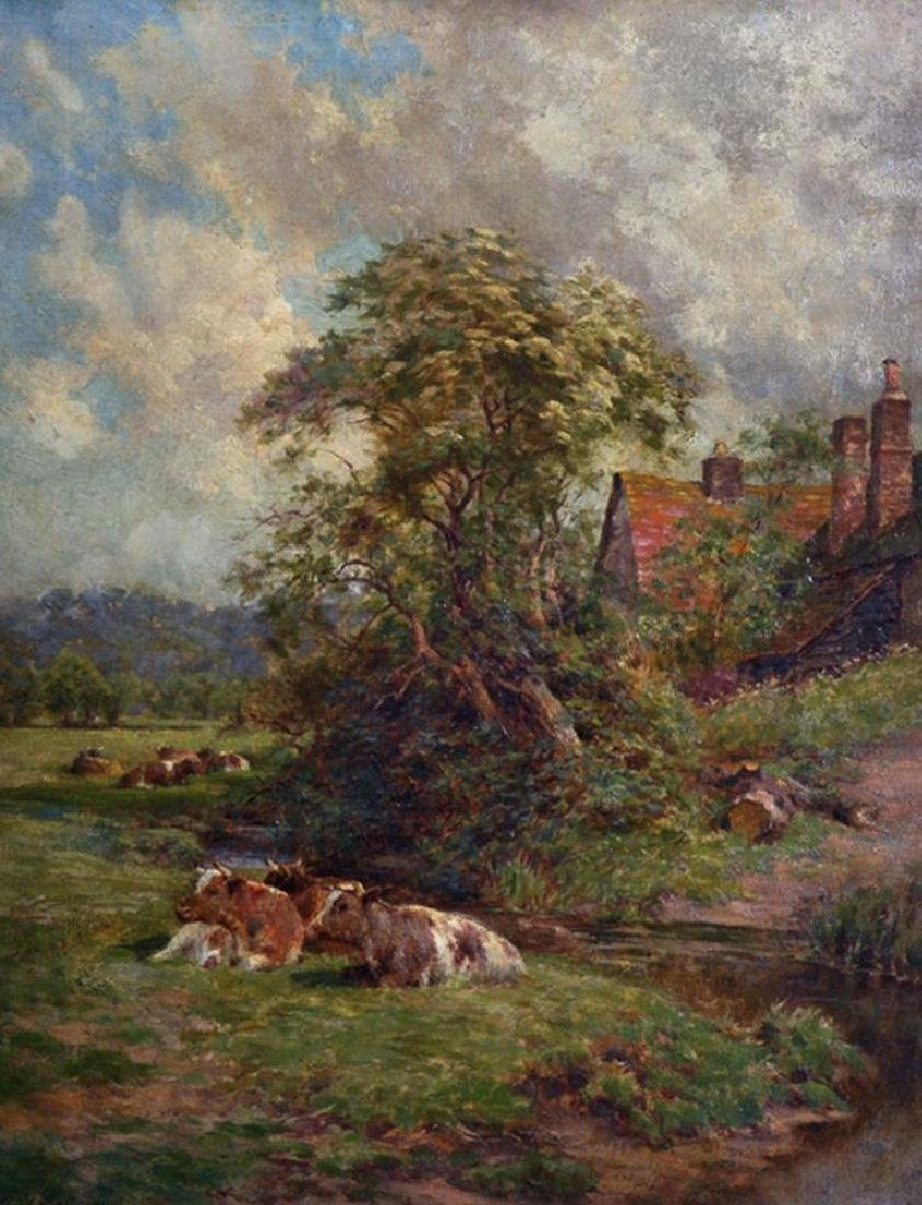 Charles James Adams (1859-1931) British. A River