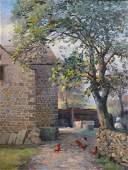 R… Fish (20th Century) British. A Farm Scene, with