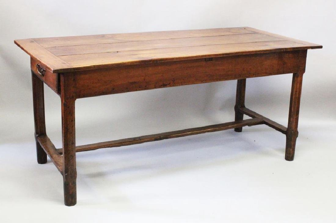 A GOOD 18TH-19TH CENTURY FRENCH FARMHOUSE TABLE with