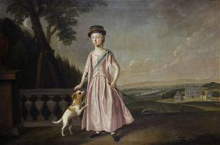 18th Century Continental School. A Young Girl, Standing