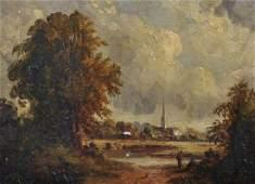 Circle of John Constable (1776-1837) British.