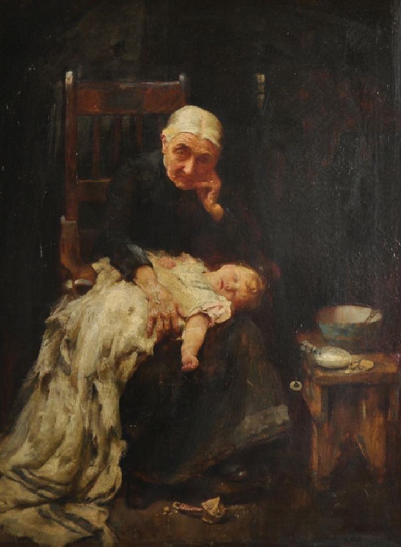 """John Henry Henshall (1856-1929) British. """"Her"""