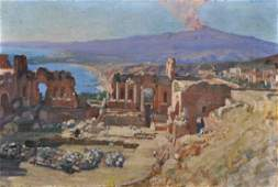 G... Barbagallo (19th Century) Italian. View of