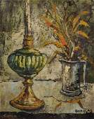 Jacques Danglas 1925     French Still life with Oil