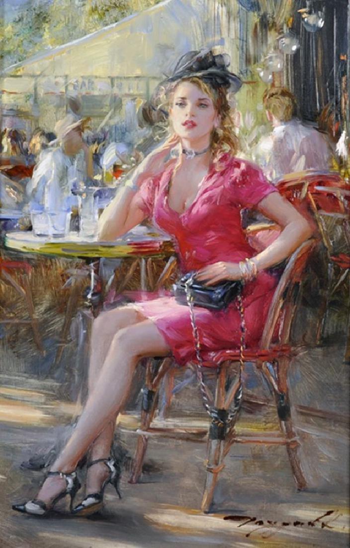 "Richmond Auto Auction >> Konstantin Razumov (b.1974) Russian. ""Young Lady in Red"