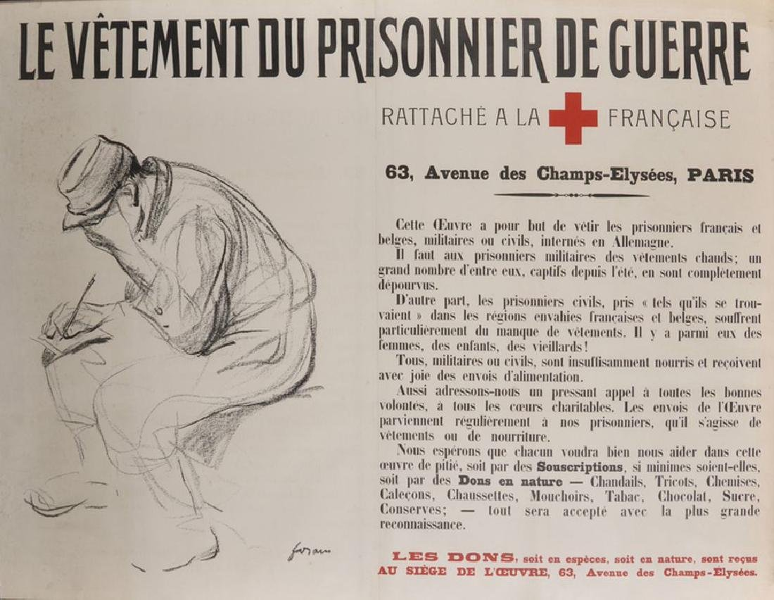 Jean-Louis Forain (1852-1931) French.  WWI Red Cross