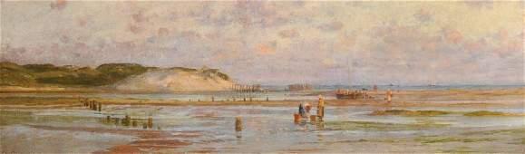 """Charles William Wyllie (1853-1923) British. """"Gathering"""