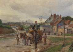 Charles William Wyllie (1853-1923) British. A Town