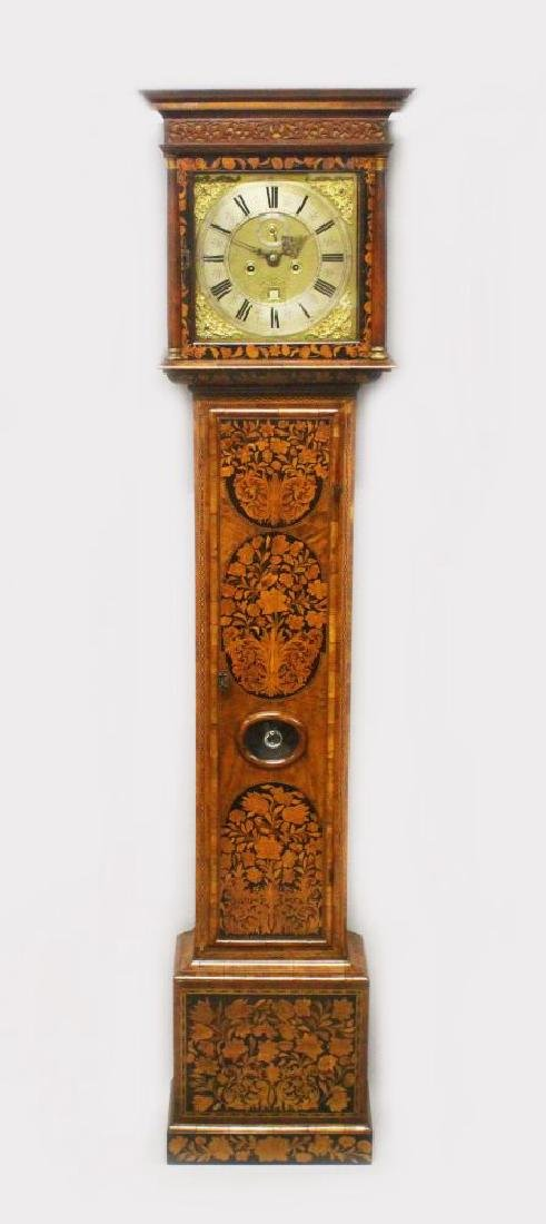 A SUPERB LATE 17TH CENTURY ENGLISH MARQUETRY LONGCASE
