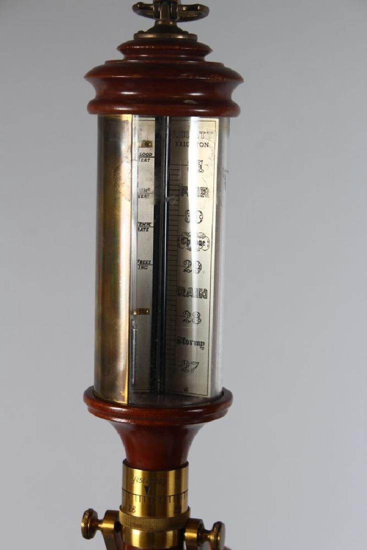 "A 20TH CENTURY MARINE STICK BAROMETER, signed ""I. - 2"