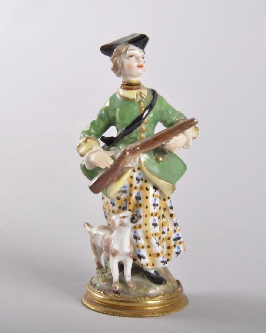 AN 18TH CENTURY MEISSEN PORCELAIN PERFUME BOTTLE, A
