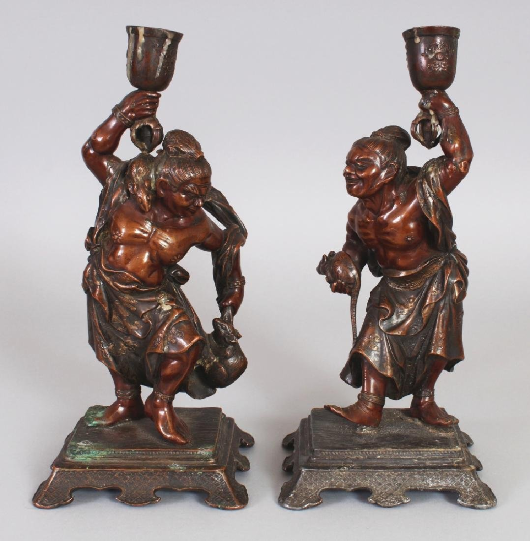 A PAIR OF GOOD QUALITY JAPANESE MEIJI PERIOD MIXED