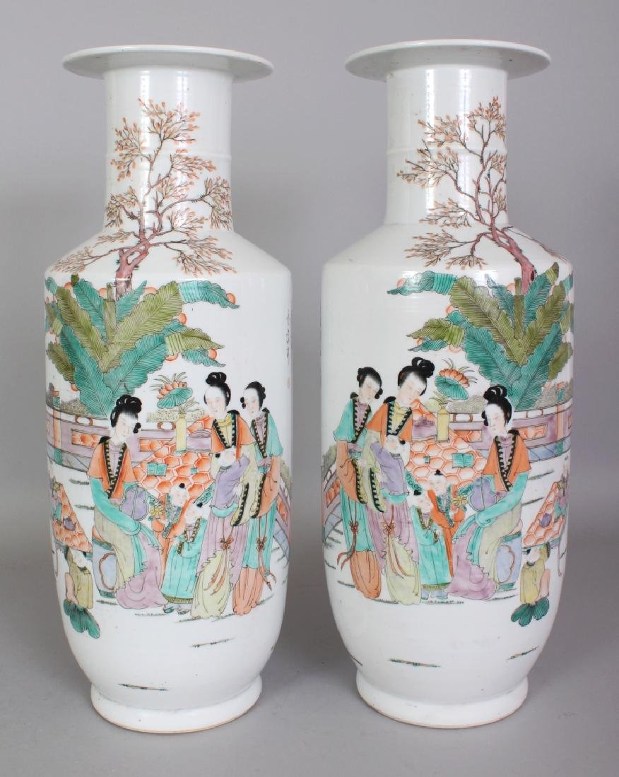 A LARGE MIRROR PAIR OF CHINESE REPUBLIC STYLE FAMILLE