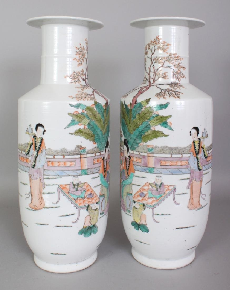A LARGE MIRROR PAIR OF CHINESE REPUBLIC STYLE FAMILLE - 2