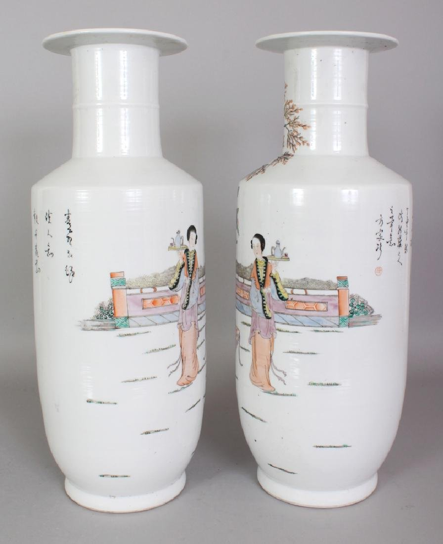 A LARGE MIRROR PAIR OF CHINESE REPUBLIC STYLE FAMILLE - 3