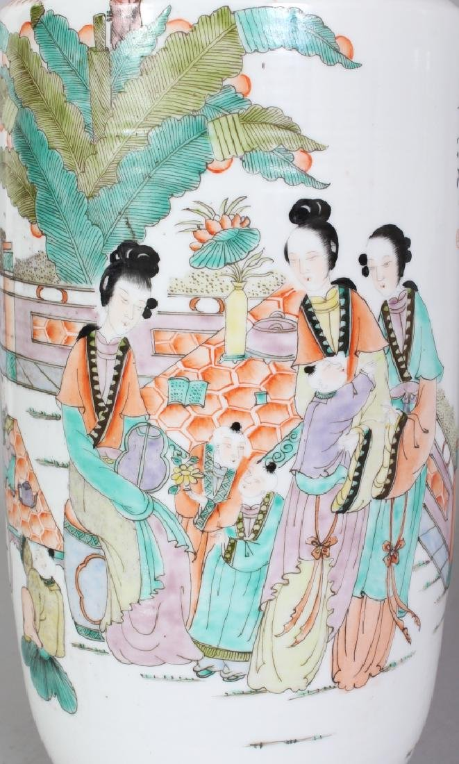 A LARGE MIRROR PAIR OF CHINESE REPUBLIC STYLE FAMILLE - 5