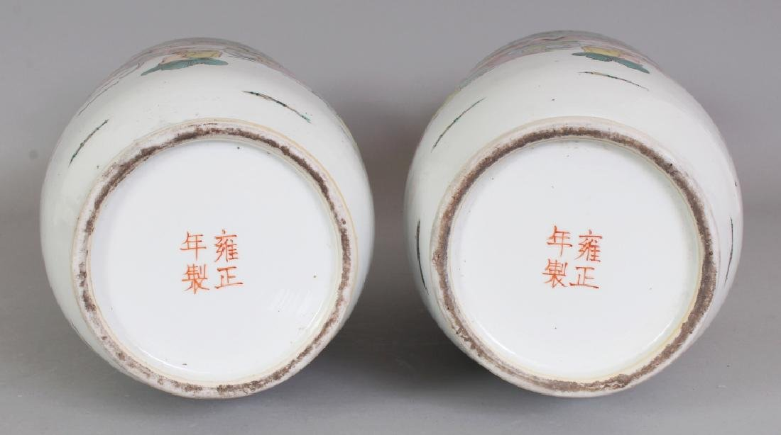 A LARGE MIRROR PAIR OF CHINESE REPUBLIC STYLE FAMILLE - 8