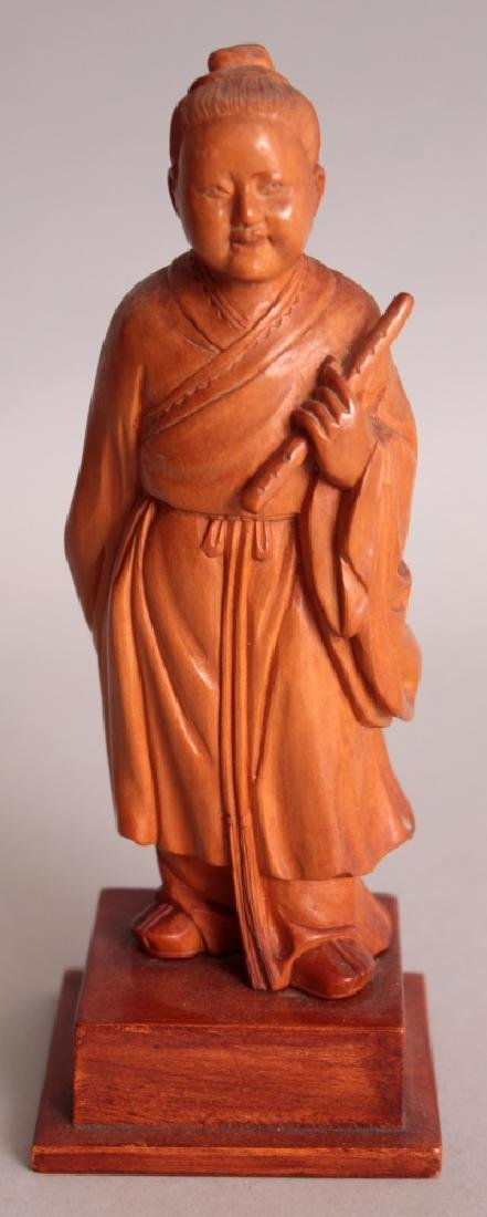 A GOOD QUALITY CHINESE COMMUNIST PERIOD CARVED WOOD