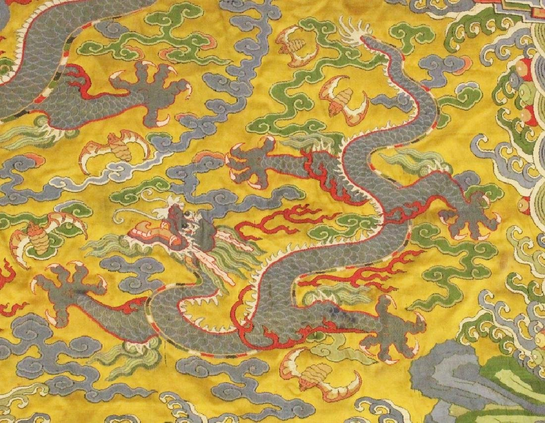 A GOOD LARGE 19TH/20TH CENTURY CHINESE YELLOW GROUND - 4