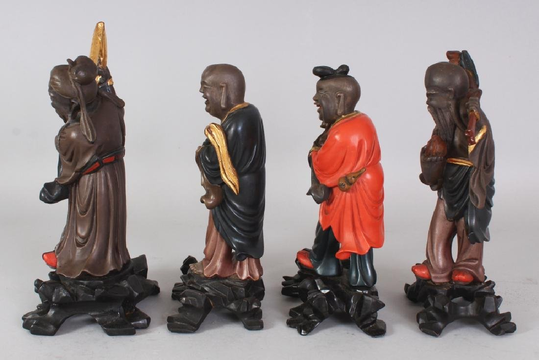 A GROUP OF FOUR EARLY 20TH CENTURY CHINESE LACQUERED - 2