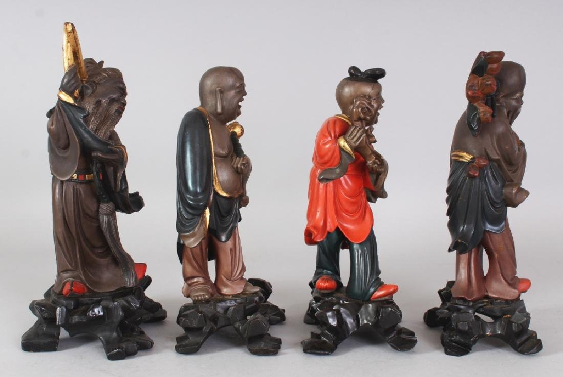 A GROUP OF FOUR EARLY 20TH CENTURY CHINESE LACQUERED - 4