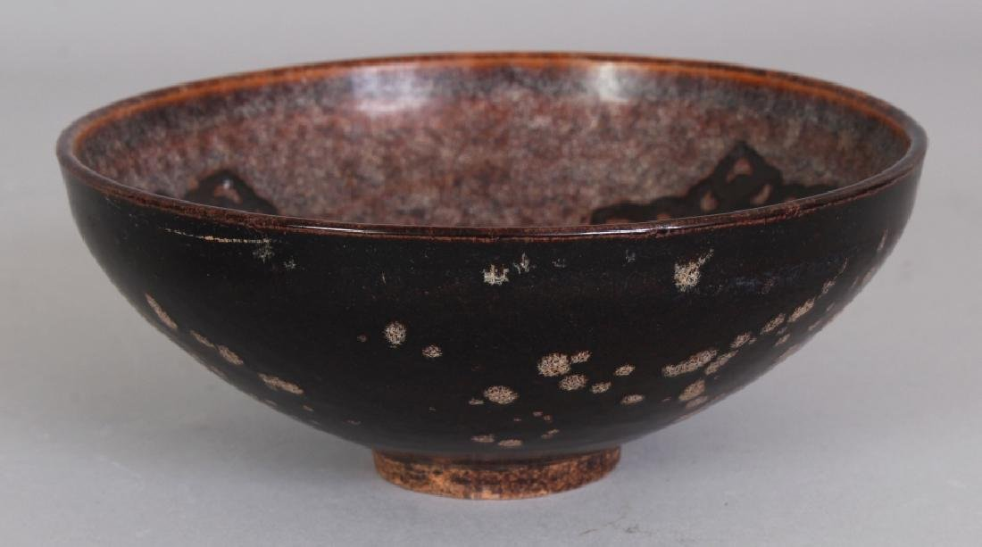 A CHINESE SONG STYLE PAPERCUT DECORATED CERAMIC BOWL,