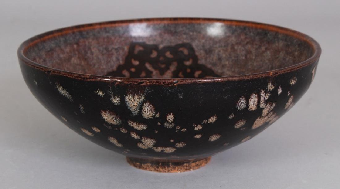 A CHINESE SONG STYLE PAPERCUT DECORATED CERAMIC BOWL, - 2