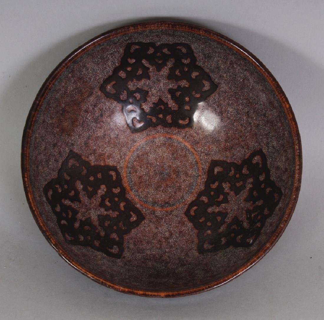 A CHINESE SONG STYLE PAPERCUT DECORATED CERAMIC BOWL, - 3