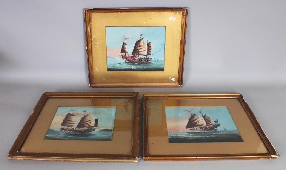 A GROUP OF THREE 19TH/20TH CENTURY FRAMED CHINESE