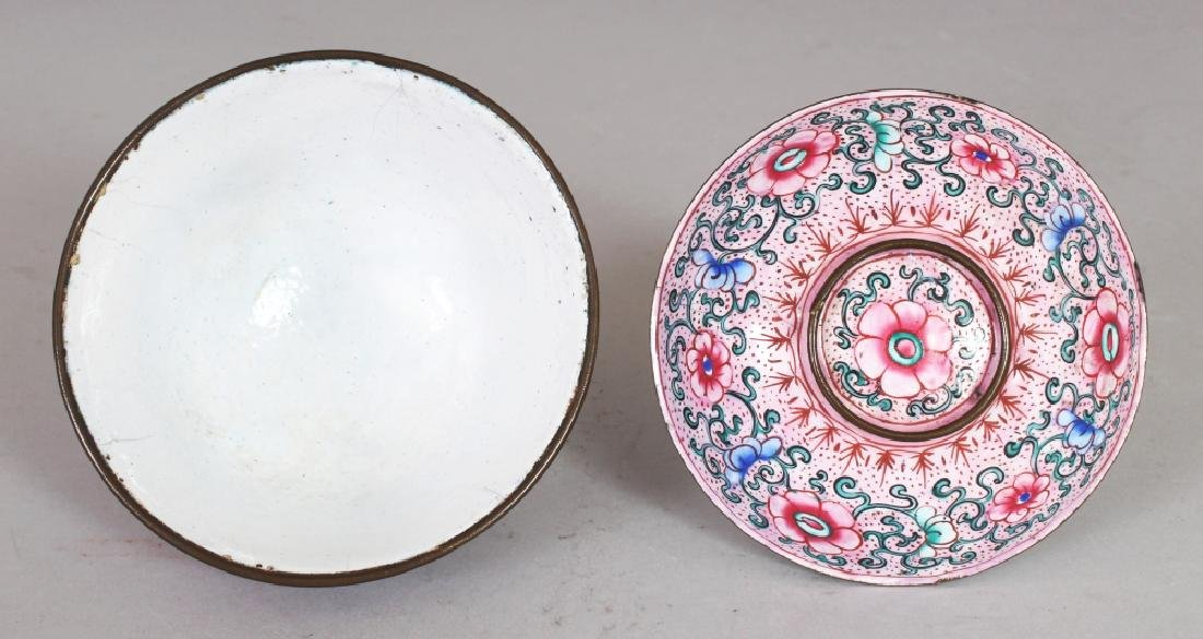 A 19TH CENTURY CHINESE PINK GROUND CANTON ENAMEL - 4
